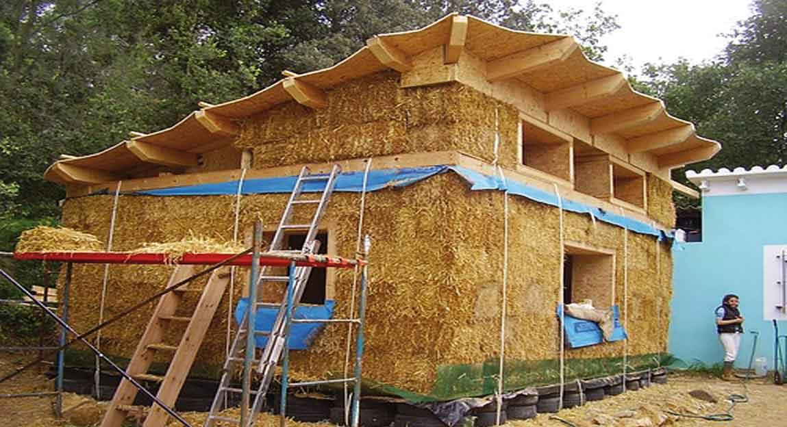 Construcci n org nica vivienda de paja bioclim tica ayc for Construccion de casas bioclimaticas