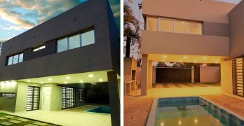 Elegancia, sencillez y fluidez espacial en una vivienda