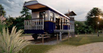 Como viviendo dentro de una película (Casa-Vagón Orient Express, en Tafí Viejo)