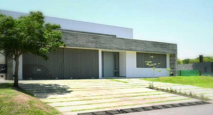 Máxima funcionalidad en una vivienda de estética simple, pura y minimalista