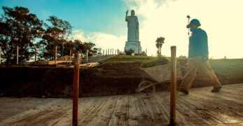 Continúan las obras: CRISTO BENDICENTE de San Javier – Tucumán